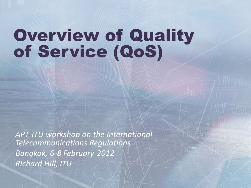 Overview of Quality of Service (QoS)