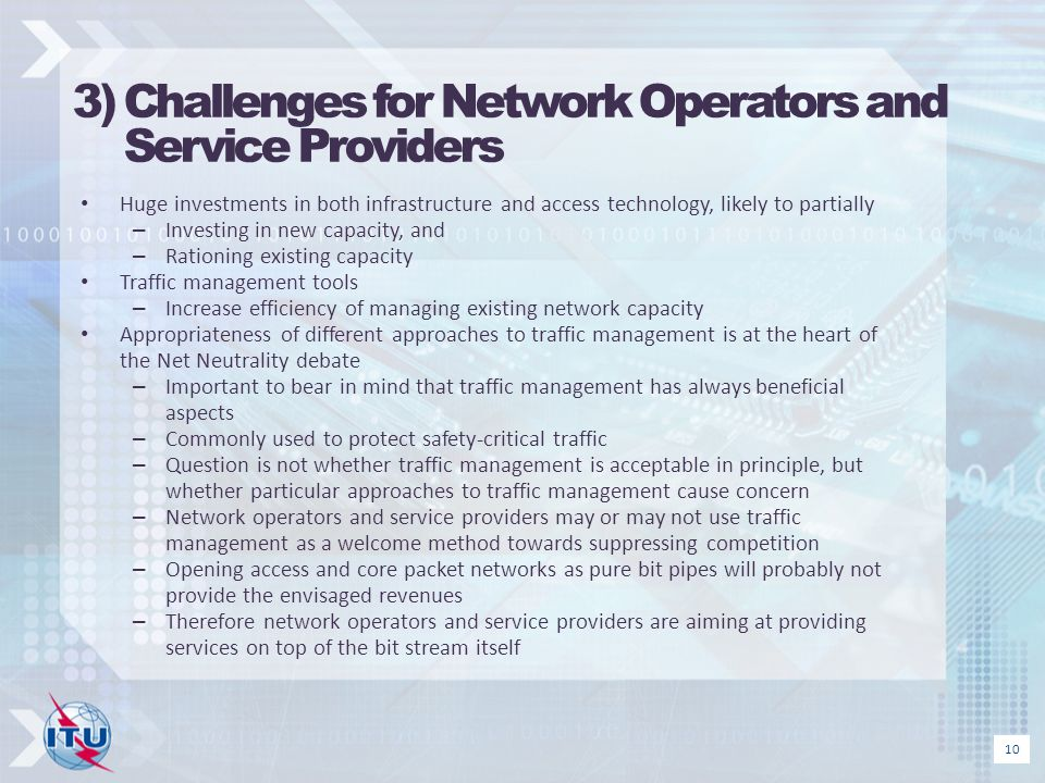 3) Challenges for Network Operators and Service Providers