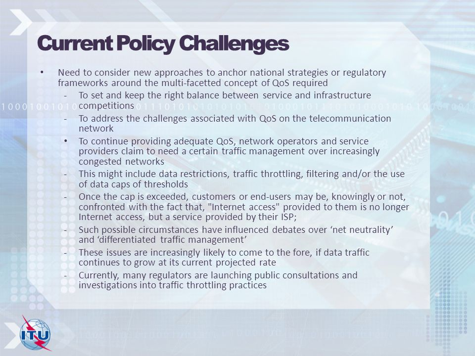 Current Policy Challenges