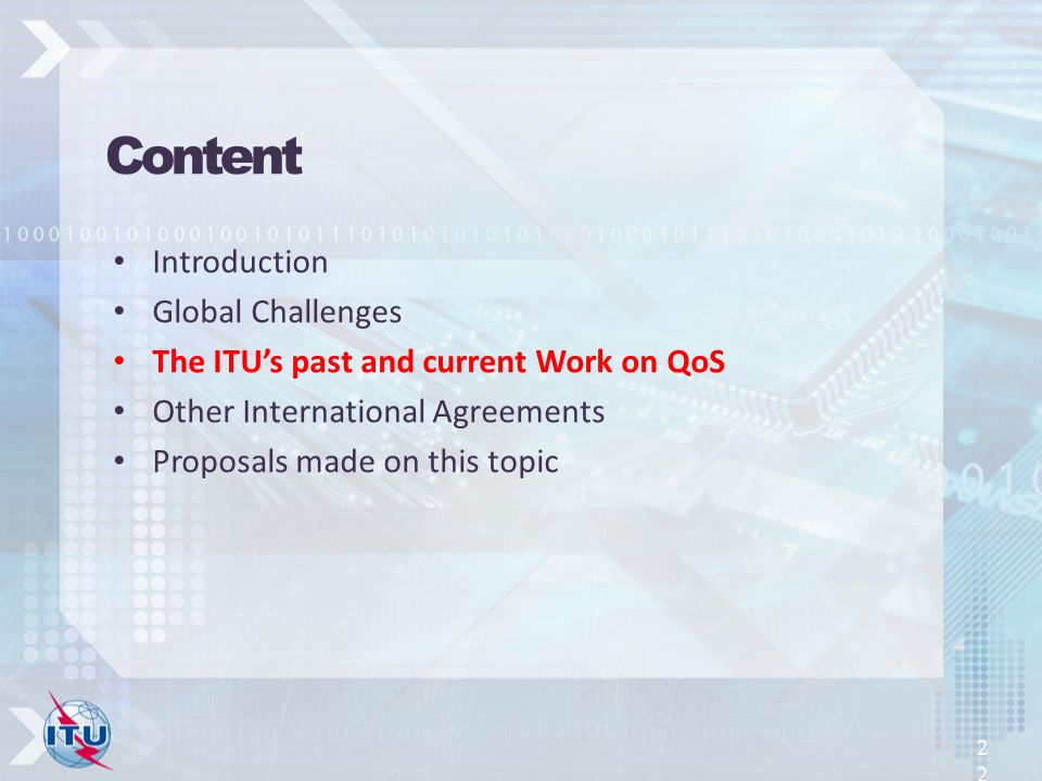 Content Introduction Global Challenges