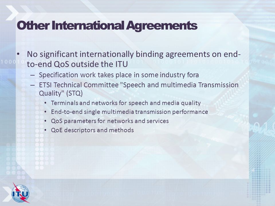 Other International Agreements