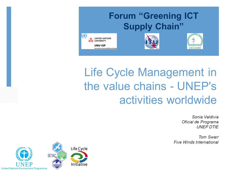 Forum Greening ICT Supply Chain