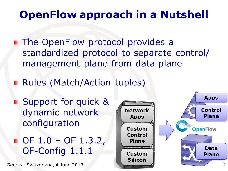OpenFlow approach in a Nutshell