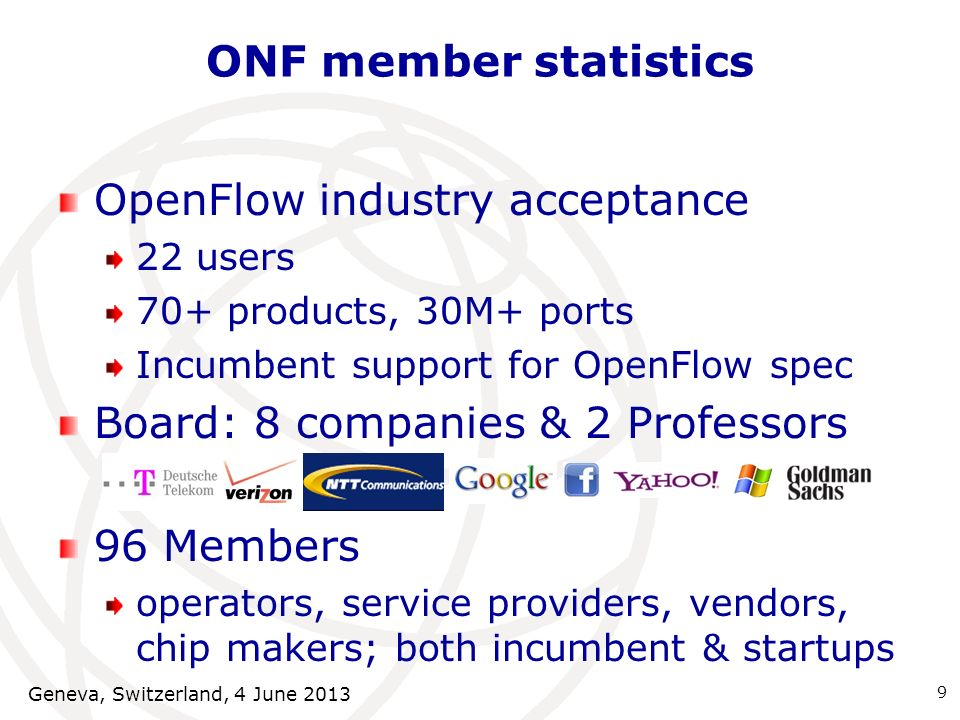 OpenFlow industry acceptance