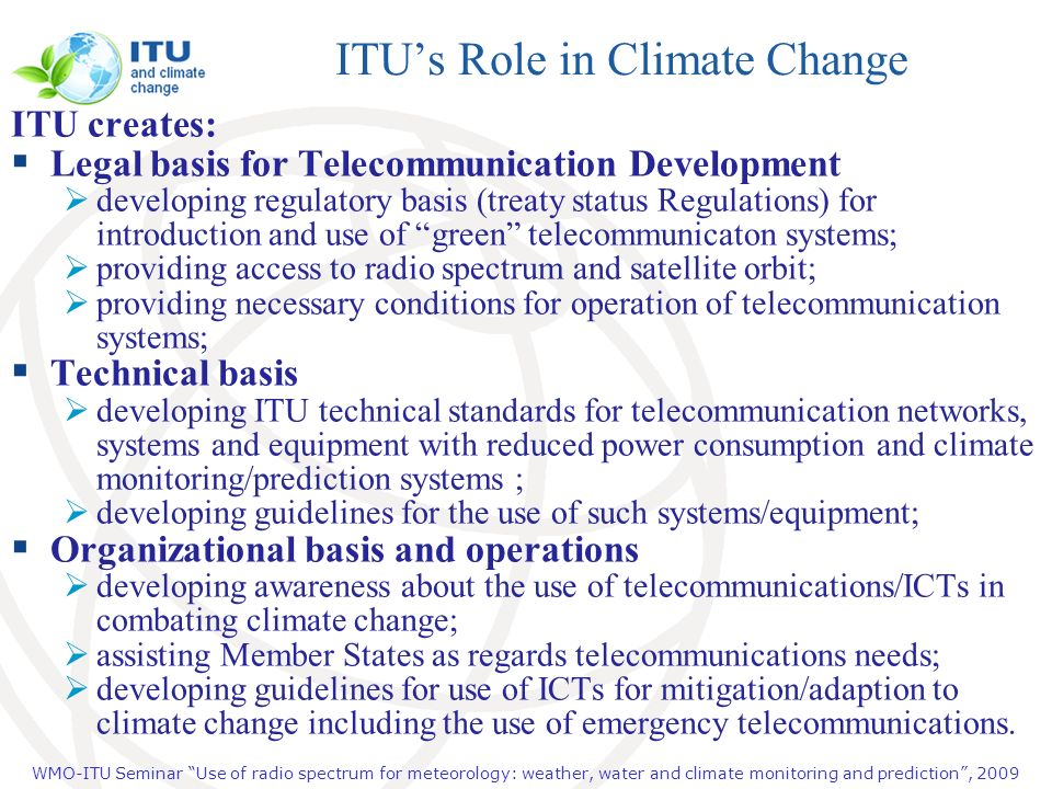 ITU's Role in Climate Change