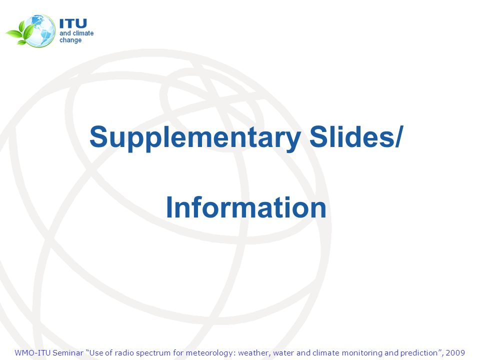 Supplementary Slides/