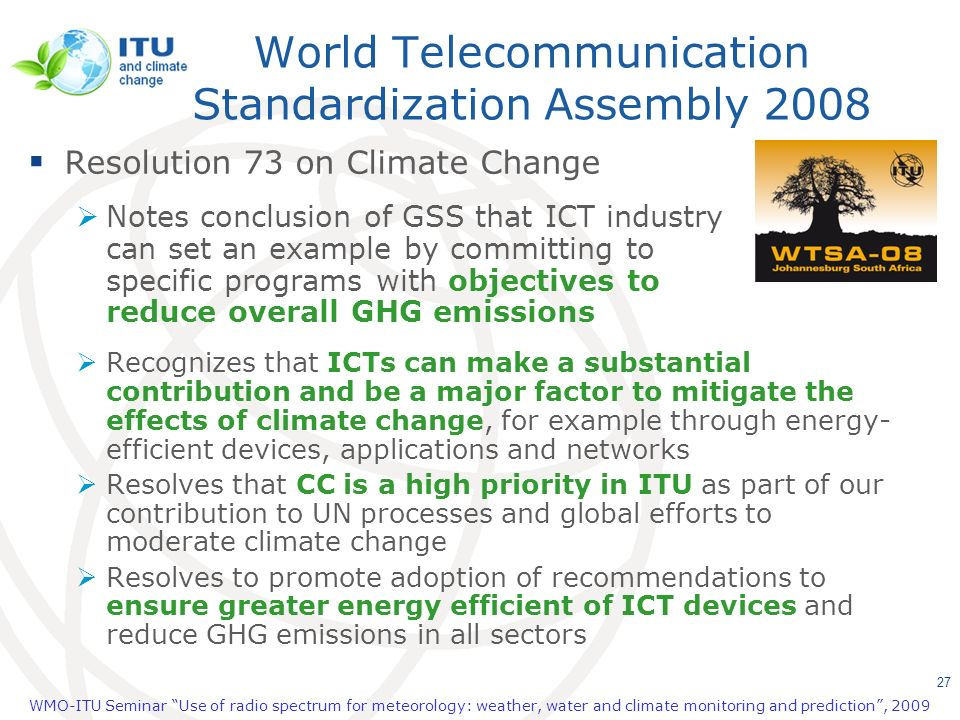 World Telecommunication Standardization Assembly 2008