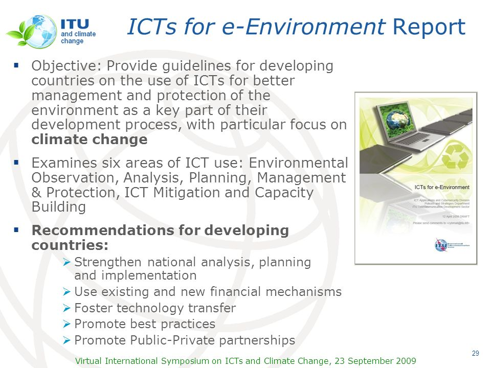 ICTs for e-Environment Report