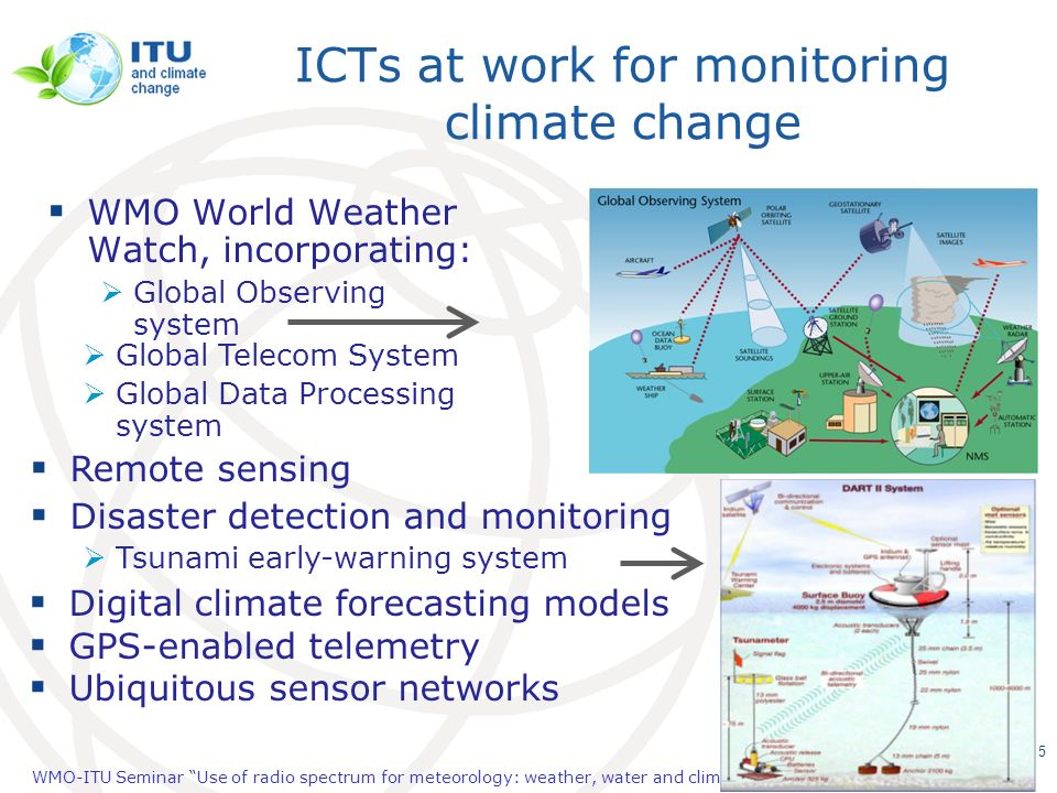 ICTs at work for monitoring climate change