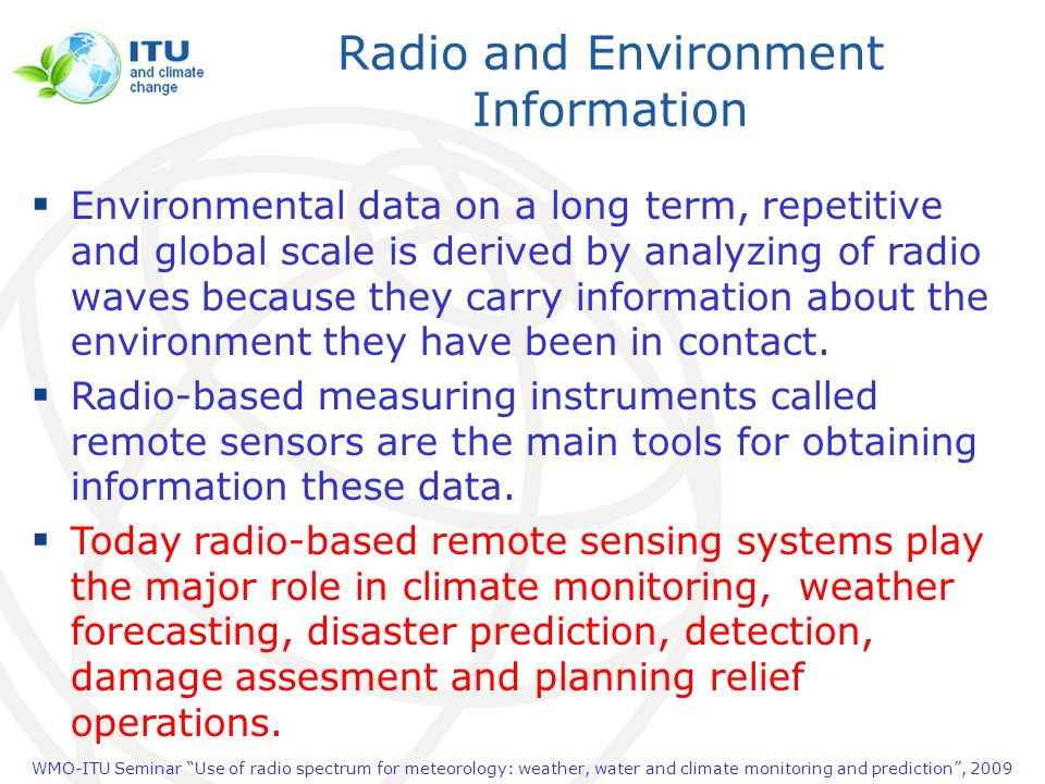 Radio and Environment Information