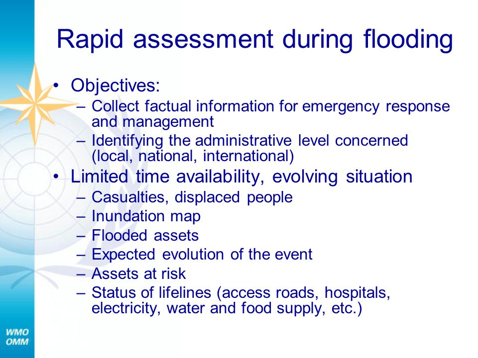 Rapid assessment during flooding