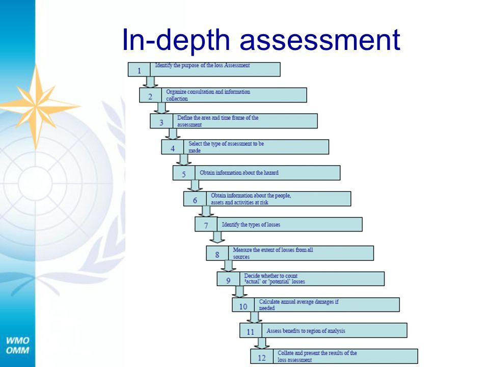 In-depth assessment