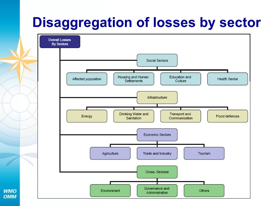 Disaggregation of losses by sector