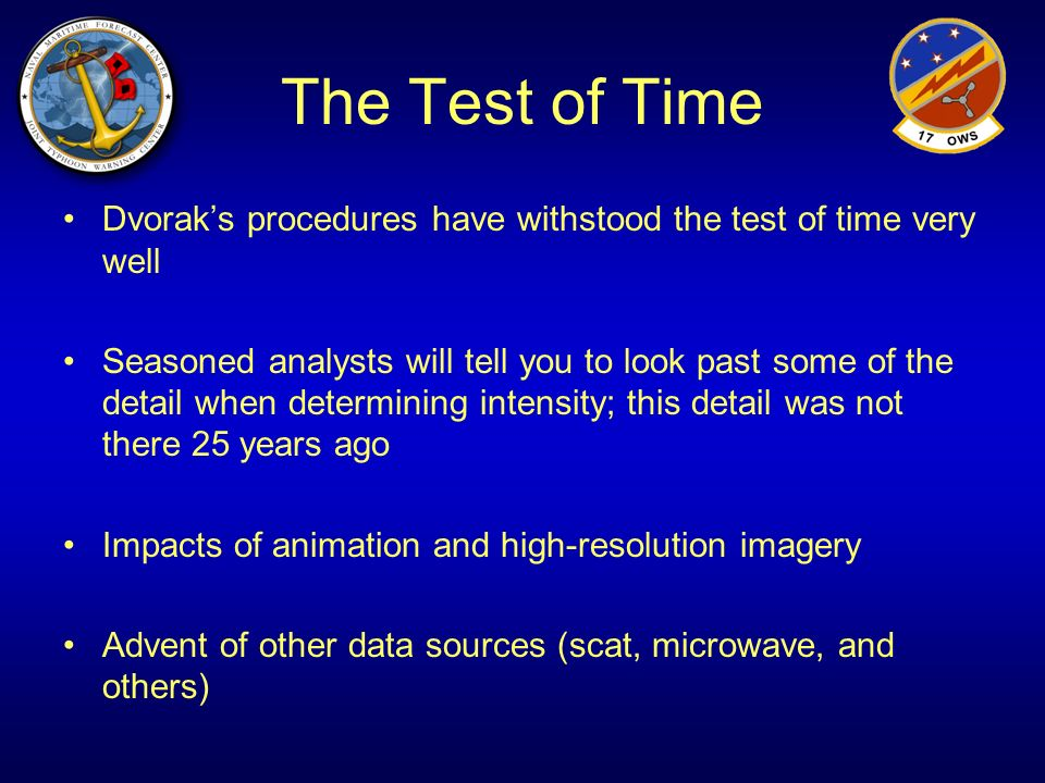 The Test of Time Dvorak's procedures have withstood the test of time very well.