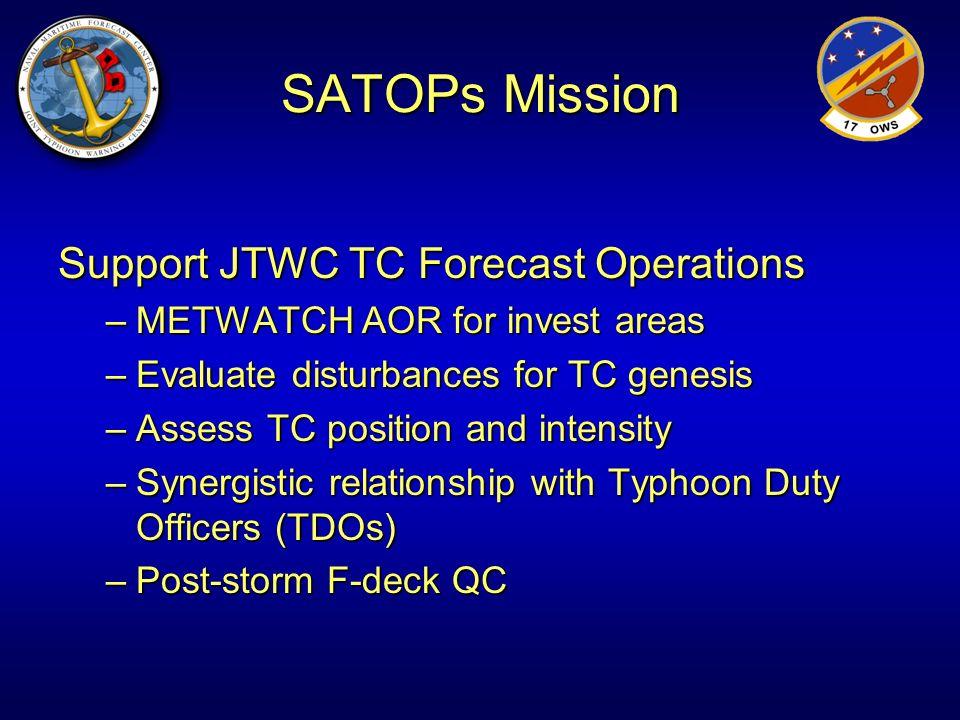 SATOPs Mission Support JTWC TC Forecast Operations