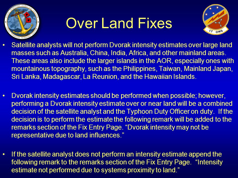 Over Land Fixes