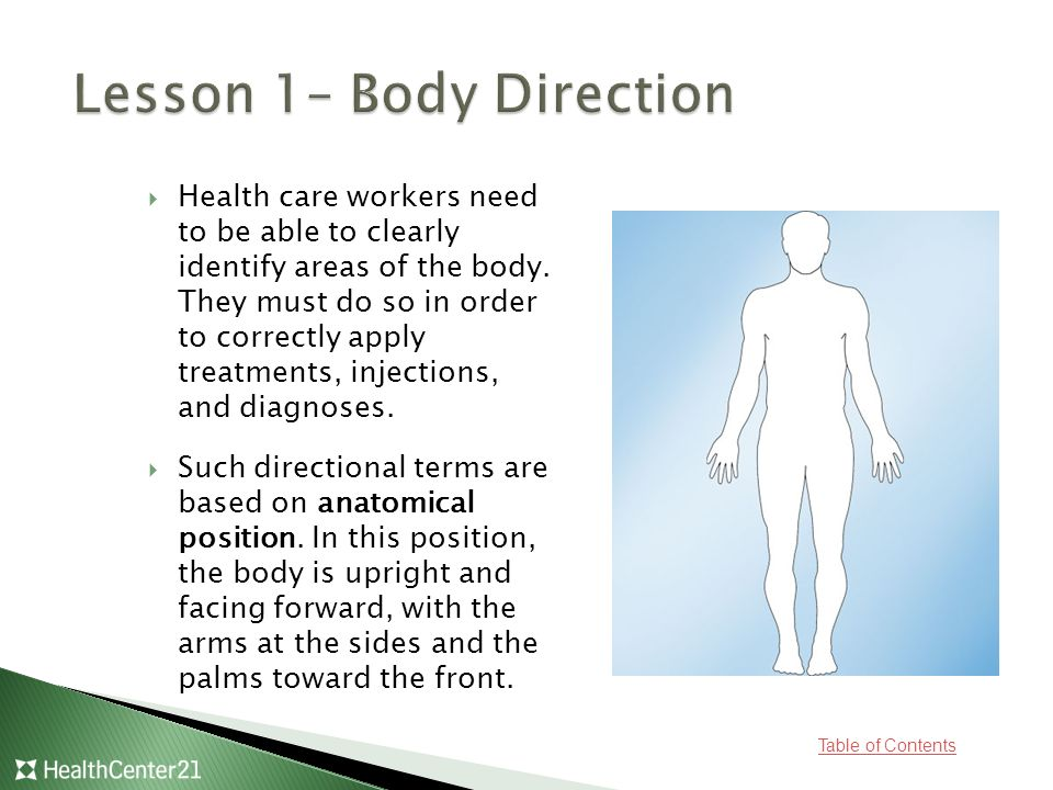 Lesson 1– Body Direction