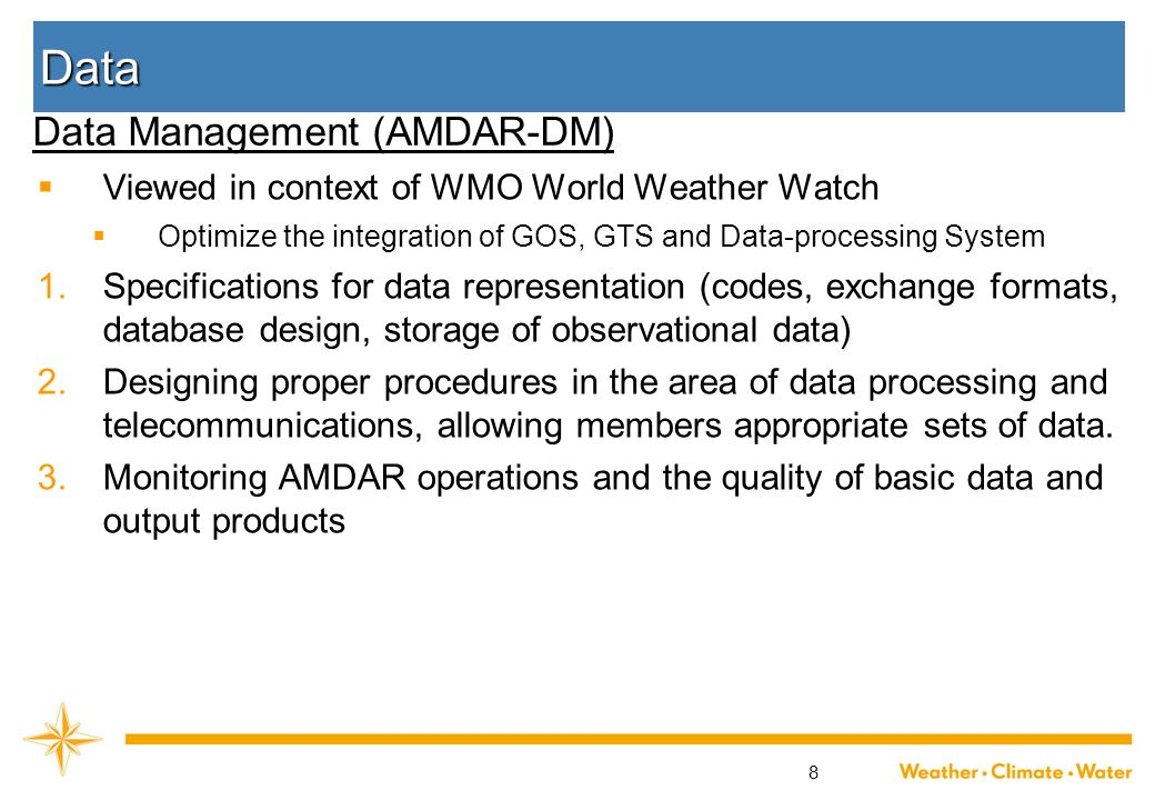 Data Data Management (AMDAR-DM)