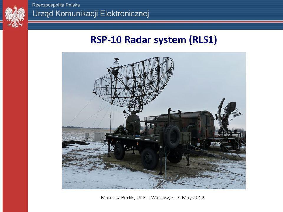 RSP-10 Radar system (RLS1)