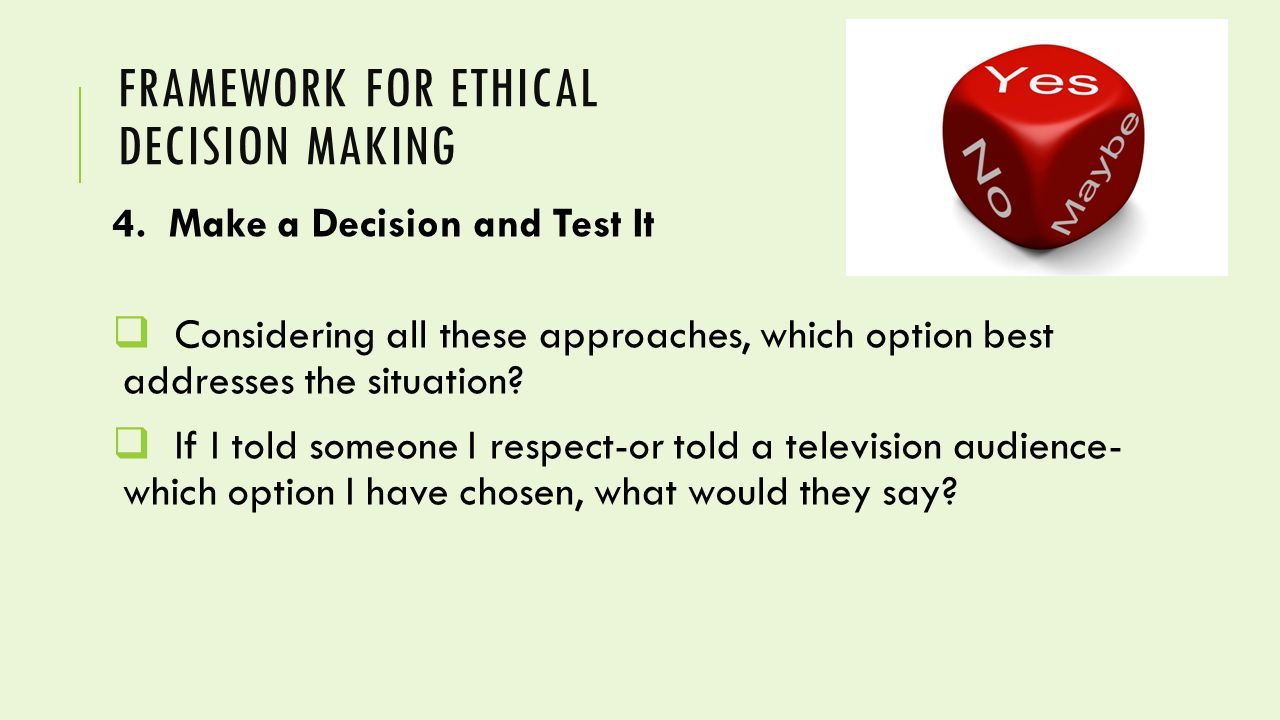 my chosen ethical framework essay Ethical dilemma in workplace  that has posed an ethical dilemma for me later, this essay will look  action i have chosen to solve my dilemma.