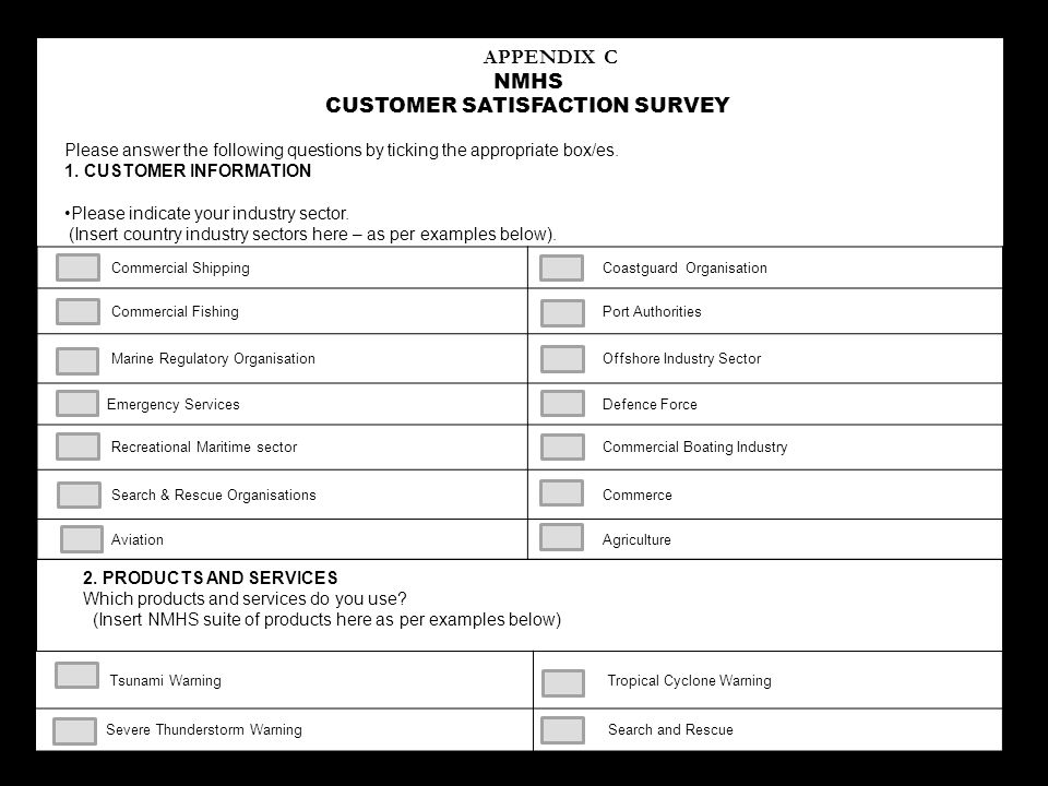 Customer Satisfaction Survey Form Iso 9001 Image Gallery - Hcpr