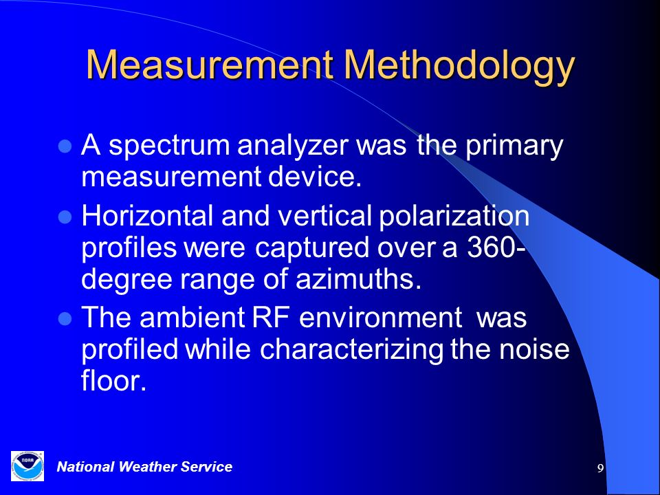 Measurement Methodology