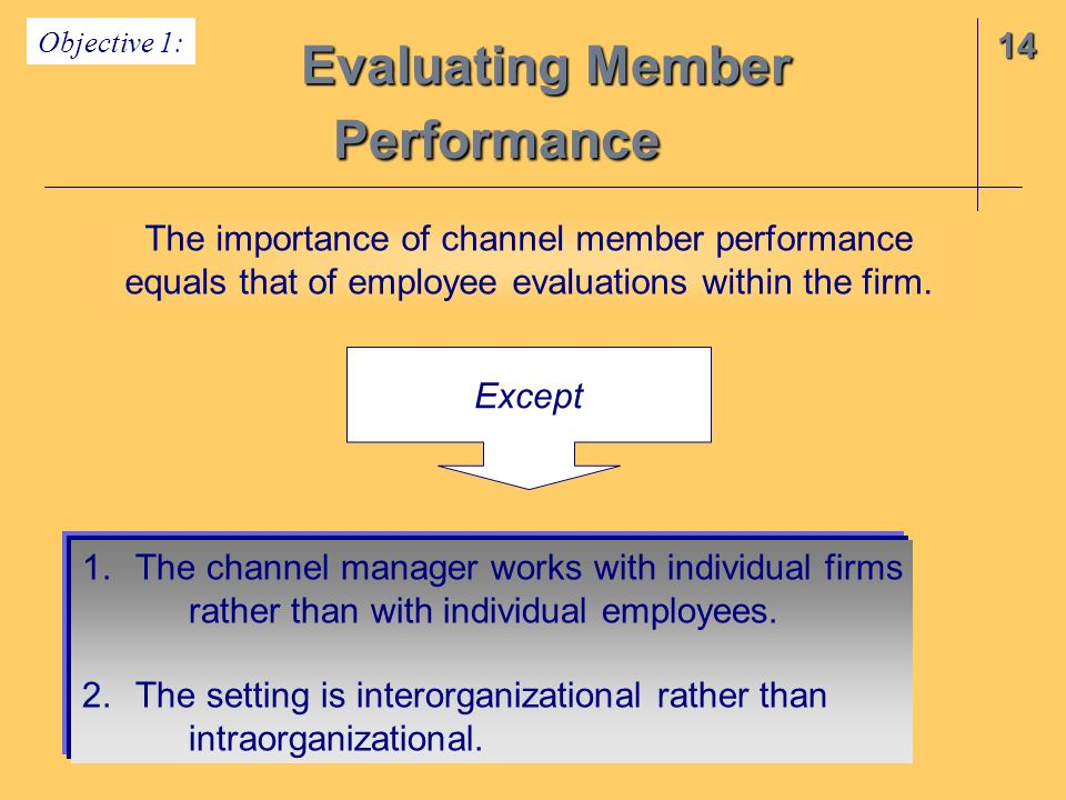 Chapter 14 Evaluating Channel Member Performance. - Ppt Video