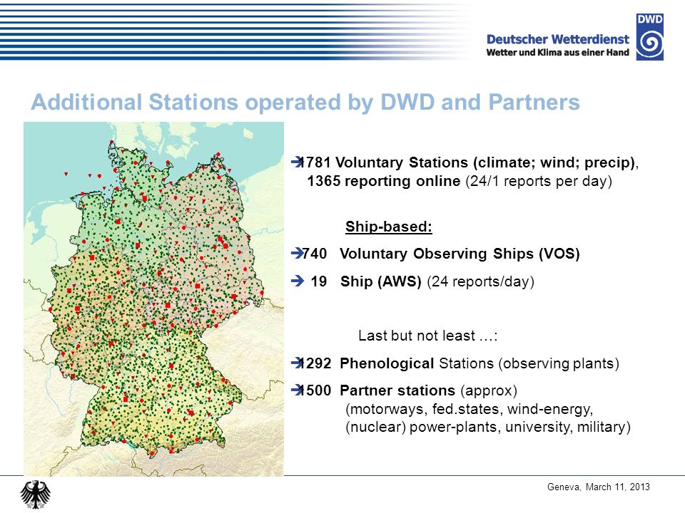 Additional Stations operated by DWD and Partners