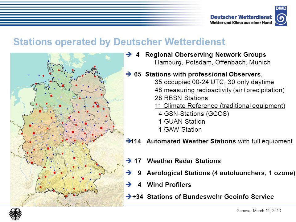 Stations operated by Deutscher Wetterdienst