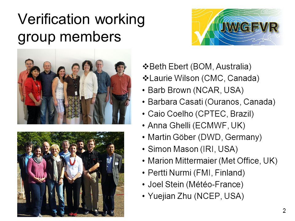 Verification working group members
