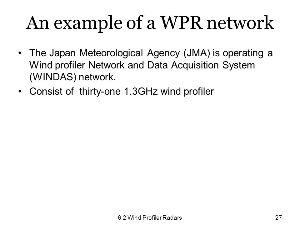 An example of a WPR network