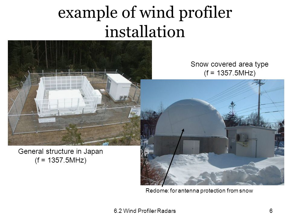 example of wind profiler installation