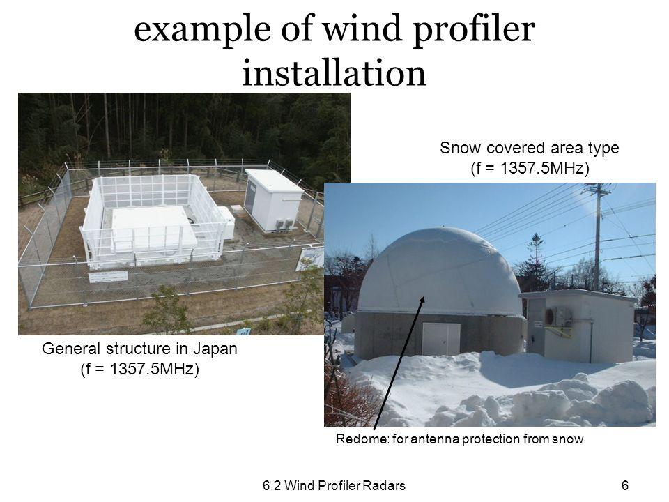 example of wind profiler installation