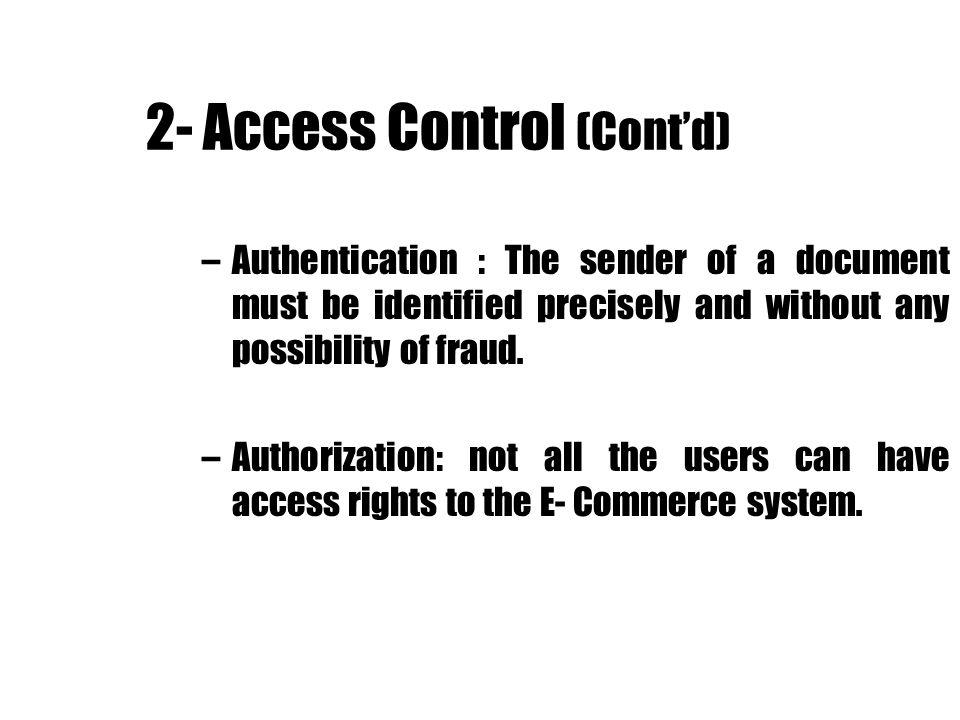 2- Access Control (Cont'd)