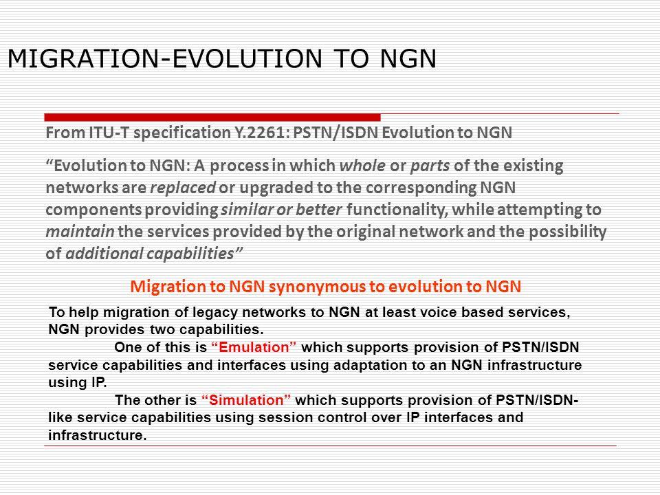 MIGRATION-EVOLUTION TO NGN