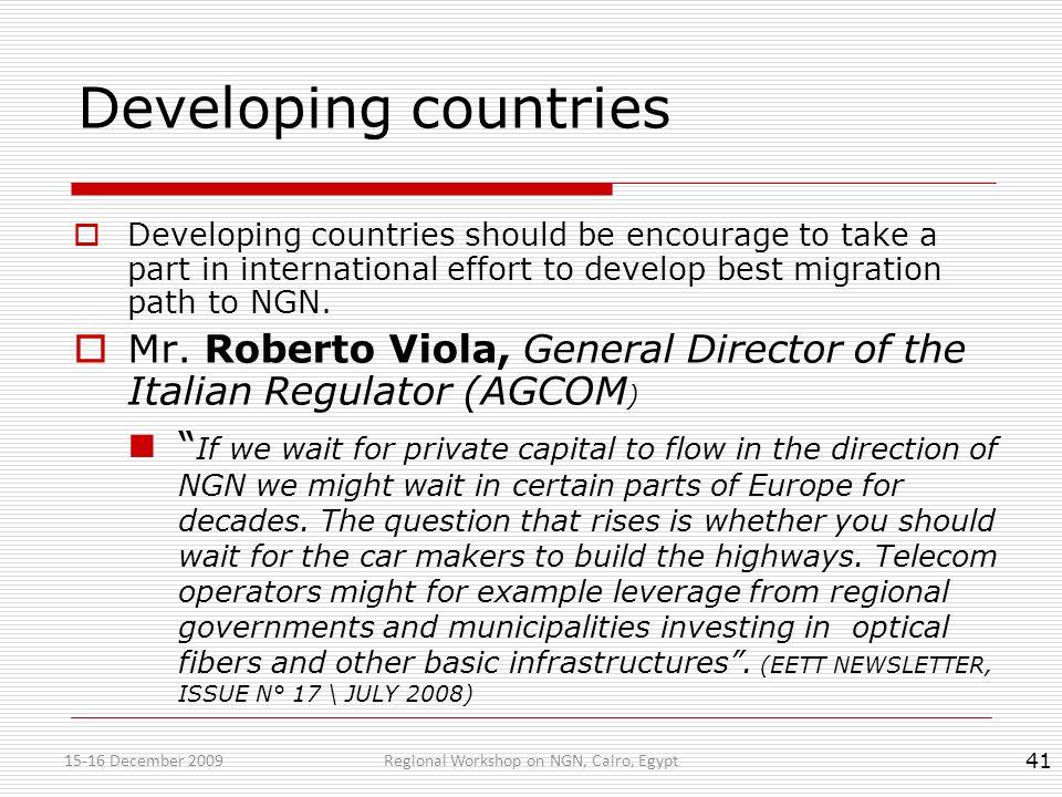 Regional Workshop on NGN, Cairo, Egypt