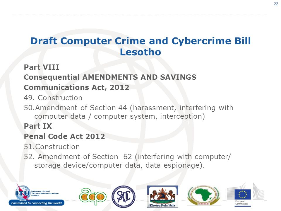 Draft Computer Crime and Cybercrime Bill Lesotho