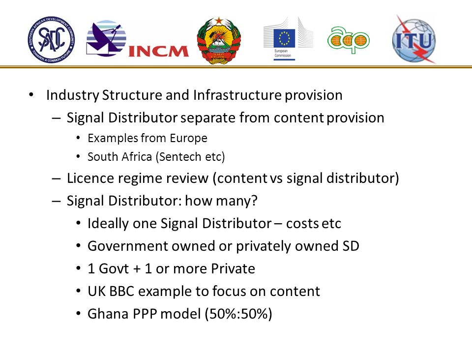 Industry Structure and Infrastructure provision