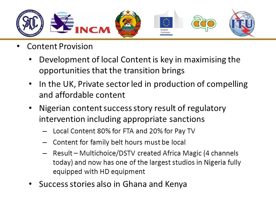 Success stories also in Ghana and Kenya