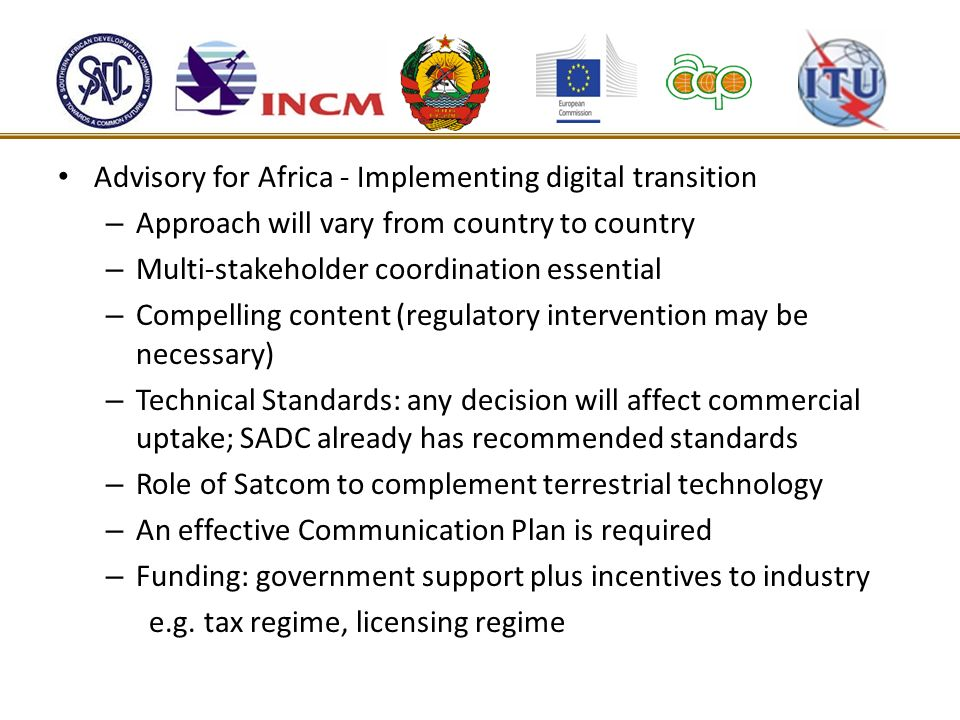 Advisory for Africa - Implementing digital transition