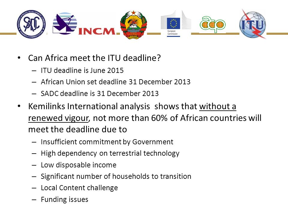 Can Africa meet the ITU deadline