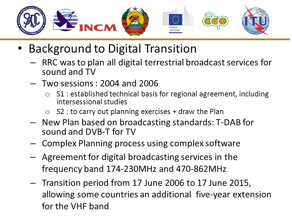 Background to Digital Transition