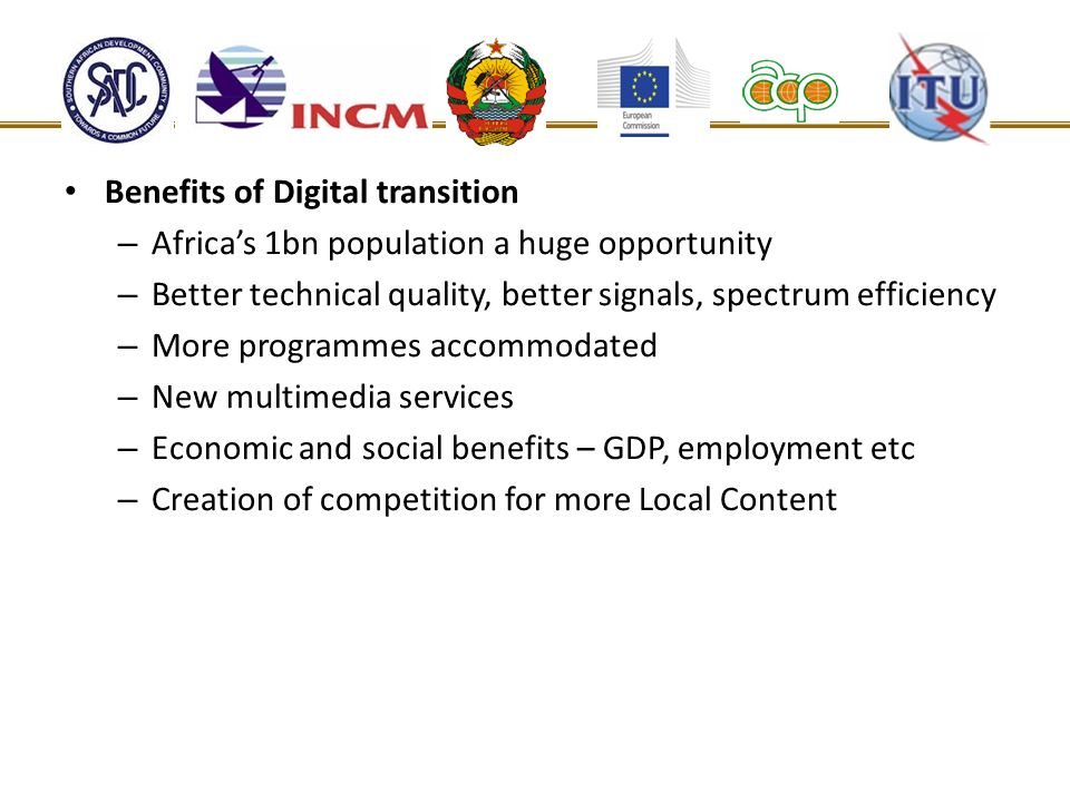 Benefits of Digital transition