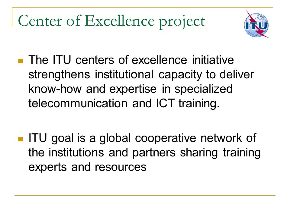 Center of Excellence project
