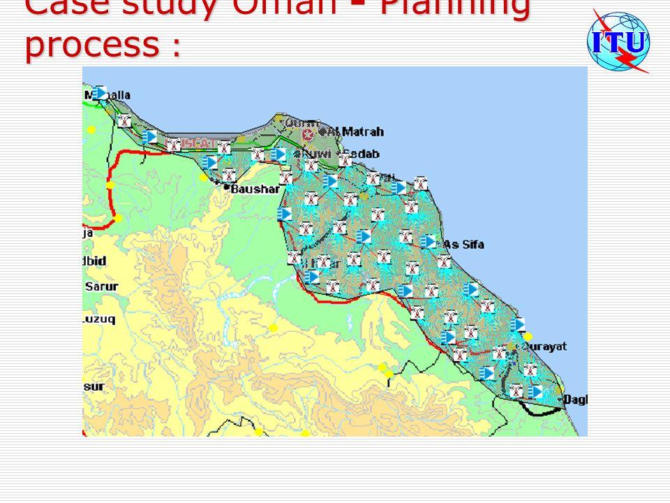 Case study Oman - Planning process :