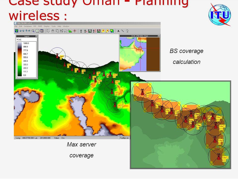 Case study Oman - Planning wireless :