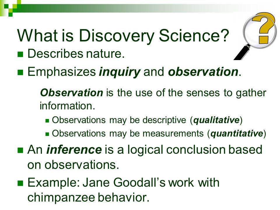 What is Discovery Science