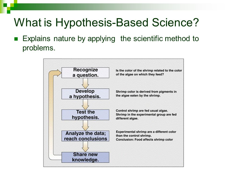 What is Hypothesis-Based Science