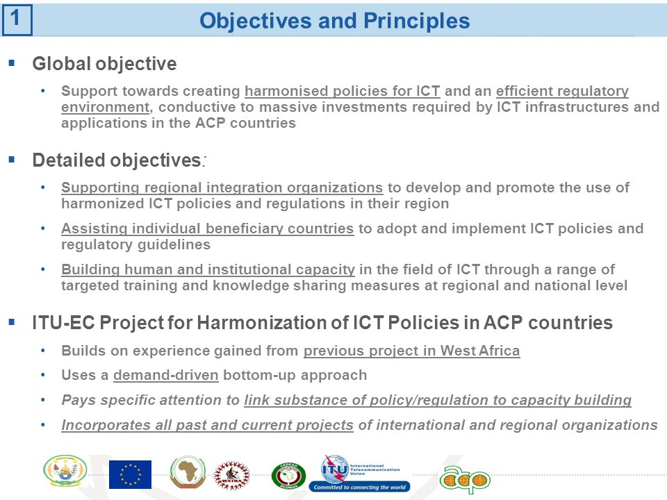 Objectives and Principles