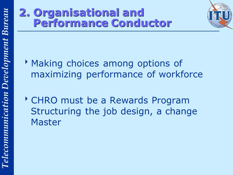 2. Organisational and Performance Conductor